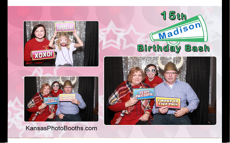 Birthday party photo booth example