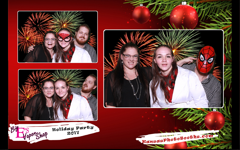 holiday themed photo booth printout