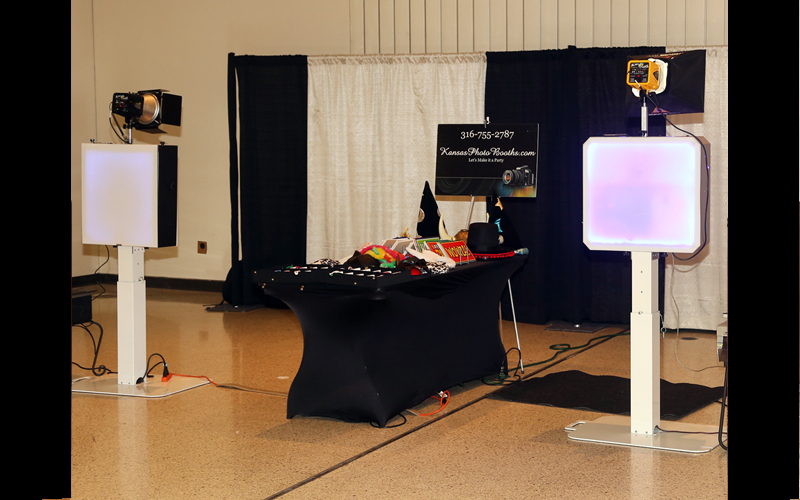 Two photo booths at an event.